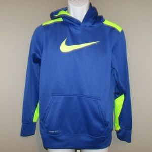 Nike Hoodie Big Kids Sz XL Blue Lime Green Jacket
